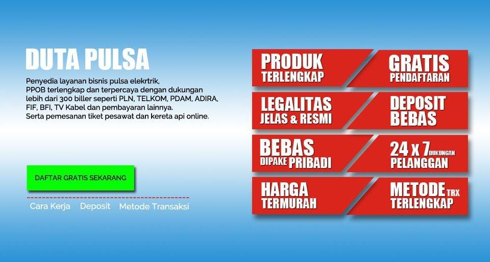Duta Pulsa Agen Pulsa dan PPOB Termurah dengan Pendaftaran Gratis