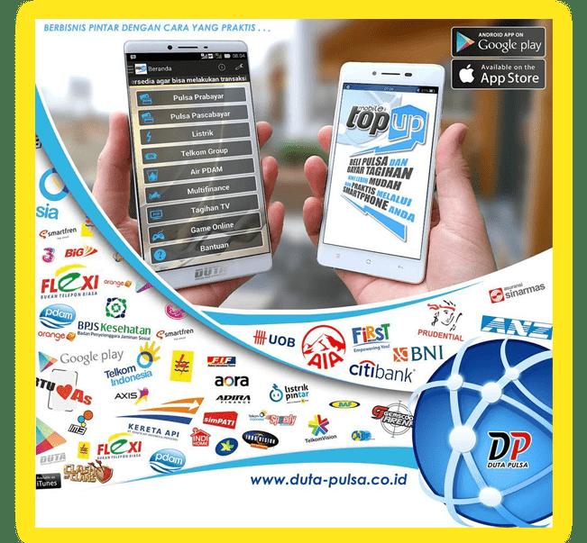 Mobile Topup Aplikasi Isi pulsa dan pembayaran tagihan dengan harga agen