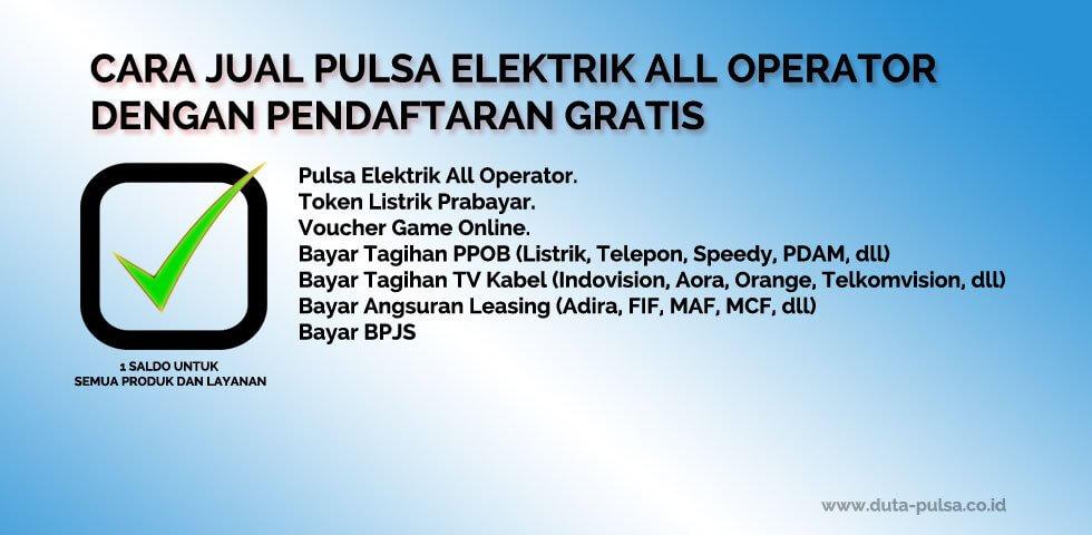 Cara jual pulsa elektrik all operator