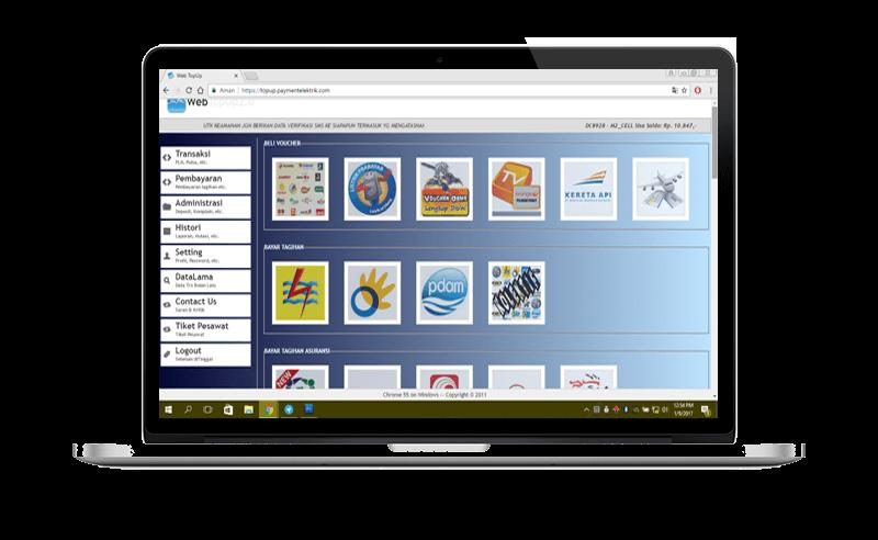 menu utama web topup