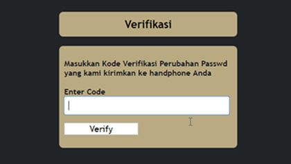 kode verifikasi reset password web topup