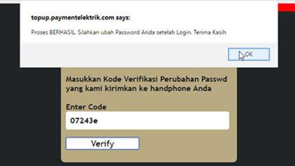 reset password web topup berhasil