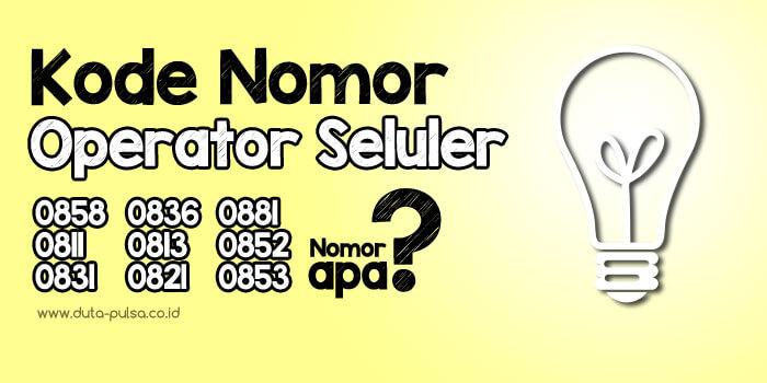 kode nomor operator seluler