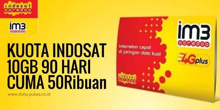 Jual kuota Indosat 10 GB Masa Aktif 90 Hari Termurah