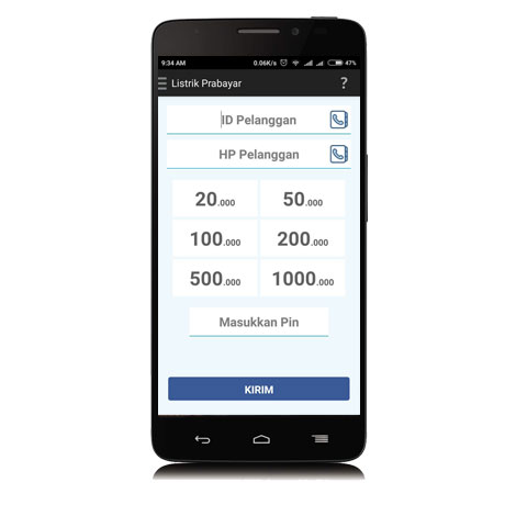 beli token listrik mobile topup 2.5